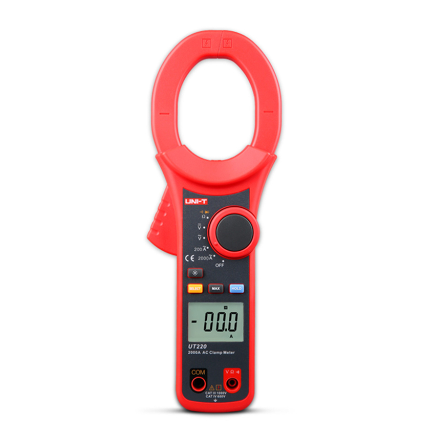 UNI-T UT220 2000A Digital Clamp Meters Measure Multimeters Auto Range Resistance ac dc digital clamp meters professional uni t 2000a auto range data hold lcd backlight digital clamp meters multitester ut220 megohmmeter
