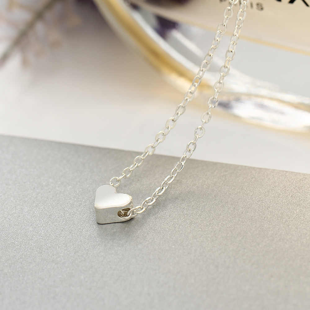 Herz Anhänger Halskette Kurze Kette Halsketten Für Frauen Männer Silber Gold Farbe Liebe Charme Schlüsselbein Schmuck Accessoires Halsreif