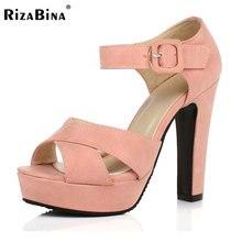 Peep Toe Ankle Strap Starke Absatz Sandalen Plattform Damen Schuhe Frauen Marke Kleid Schuhe Sandale Mujer größe 32-43