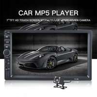 TOPSOURCE 7018B 7 HD Touch Screen Car Radio 2 Din Audio Stereo Bluetooth Video MP5 Multimedia Player FM Radio TF USB AUX Input
