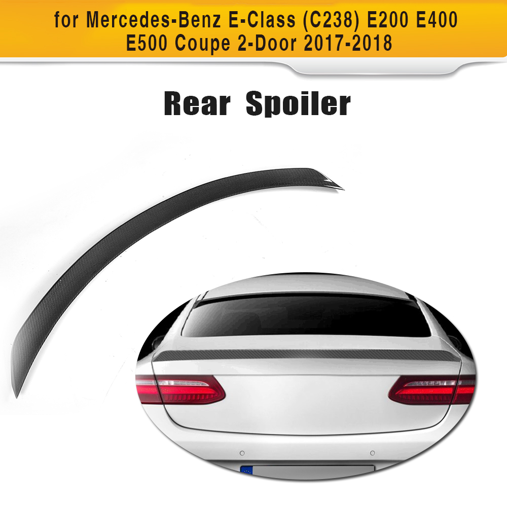 E Class Carbon Fiber Rear Lip Spoiler Window Wing For Mercedes Benz C238 Coupe 2Door 2017 2018 E200 E400 E500 E550