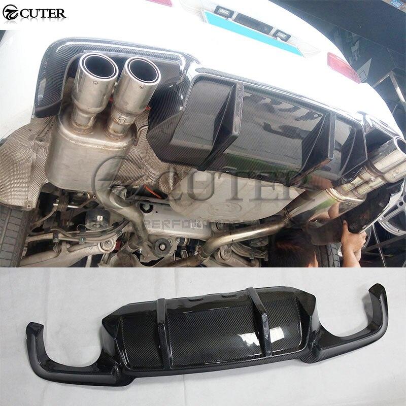 F10 5 series Carbon Fiber rear bumper lip Back Bumper Spoiler diffuser For BMW F10 520i 525i 530i AN M5 Bumper 10 17