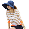 2016 New Arrival Women Summer Beach Fashion Tide Folding Cap Hat Bucket Hats Sunhat Girl