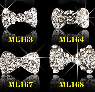 Nails Art & Tools Rhinestones & Decorations Capable 10pcs/lot 18design Nail Art Charms 10pcs 3d Nail Tools Silver Bownot Rhinestone For Nails Alloy Nail Art Bow Decorations Glitter To Rank First Among Similar Products
