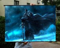 WOW Lich King HD Game Movie Wall Scrolls Poster Bar Cafes Home Decor Banners Hanging