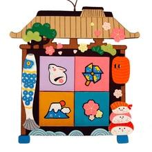 Big Size Storage Bag Felt DIY Kit Handwork Sewing Playful Wall Pocket Felt Cloth Bag For Bedroom Door Decoration