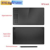 10 inch Digital Drawing Tablet Ultra thin 5080LPI Graphic Writing Pad 8192 Levels Passive Battery free Pen tablica do rysowania
