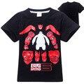 2016 Fashion Big Hero 6 Baby T-Shirt Cartoon Print Summer Short Sleeve Boys T Shirt  kids Tops Tees Kids Children Clothes