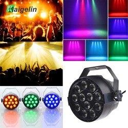 Hot Luz Par 12 3IN1 18 W efeito de Iluminação de Palco LED RGB DMX 512 Clube Partido de Disco Ballroom KTV Bar casamento DJ Projetor Spotlight