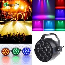 цена Hot Par Light 12 LED RGB 3IN1 18W Stage Lighting effect DMX 512 Club Disco Party Ballroom KTV Bar Wedding DJ Projector Spotlight онлайн в 2017 году