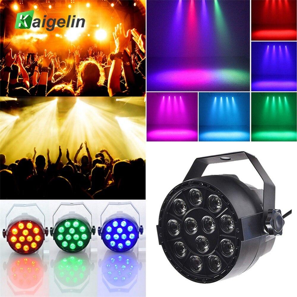Lumière chaude Par 12 LED RGB 3IN1 18 W effet d'éclairage de scène DMX 512 Club Disco fête salle de bal KTV Bar mariage projecteur DJ