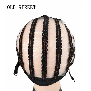 Image 1 - High Quality Lace Wig Caps For Making Wigs Black Dome Cap Wig Hair Net Hair Weaving Stretch Adjustable Wig Cap