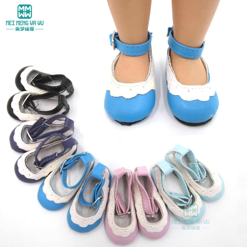 6.5cm * 3cm MIMI doll shoes leather Shoes for 16 Inch Salon dolls and 40cm doll Accessories