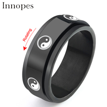 купить Innopes fashion Titanium Steel fine adjustable Ring Chinese Style masonic statement ring Jewelry Stainless Steel Retro gold Men дешево