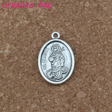 ST. MARTHA religion Charms Pendants 100Pcs/lots 16.2x25.5mm Antique Silver Fashion Jewelry DIY Fit Bracelets Necklace Earrings