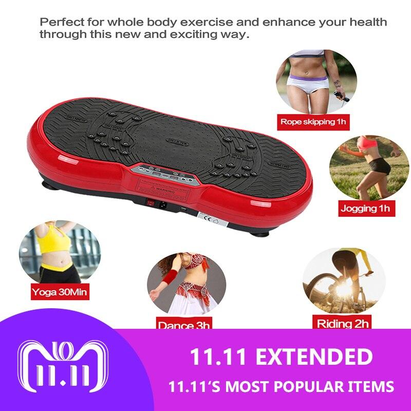 Version améliorée de ultra-mince de massage vibrations conseil machine de perte de poids la combustion des graisses home gym fitness equipment exercice HWC