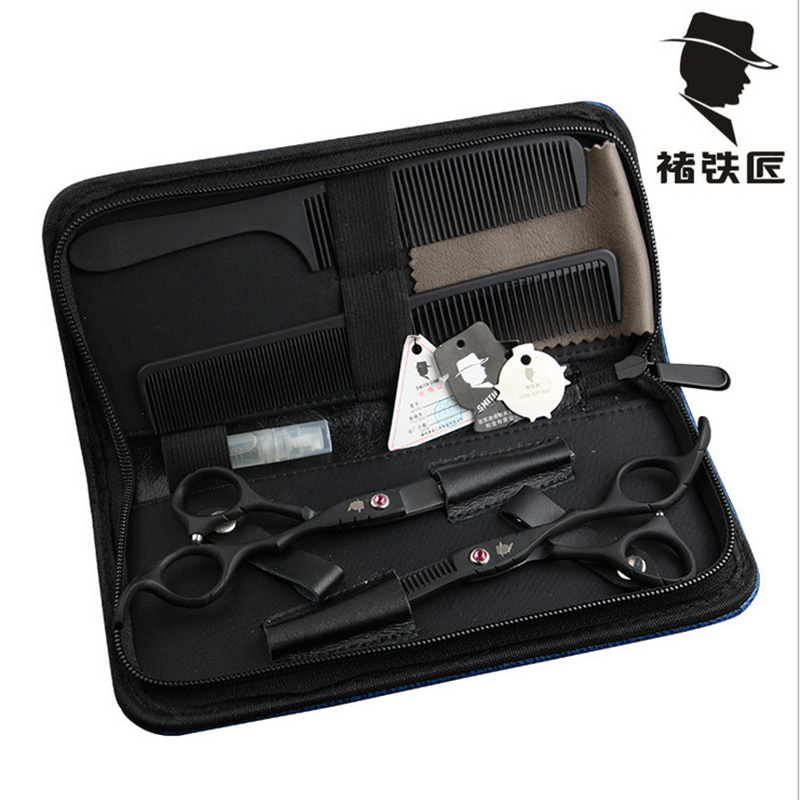 Hair Scissors Well-Educated 2 Scissors+bag+comb High Quality Smith Chu 6.0 Inch Professional Hairdressing Scissors Hair Cutting Barber Shear Set Salon Can Be Repeatedly Remolded. Styling Tools