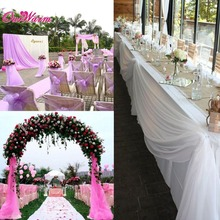 10*1.5m Organza Sheer Fabric Swags Wedding Chairs Party Decoration