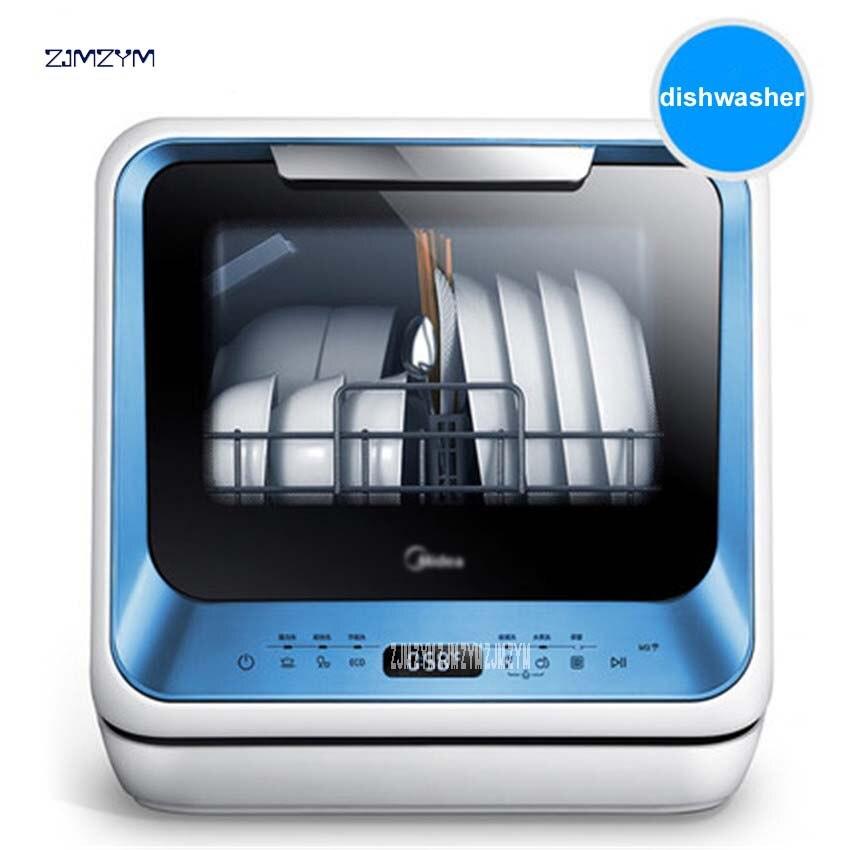 1 Stück M3-t Mini Dish Washer Maschine Für 4 Sätze Geschirr Sterilisation Automatische Haushalts Spülmaschine Für Gerichte Gehärtetem Glas Gute WäRmeerhaltung