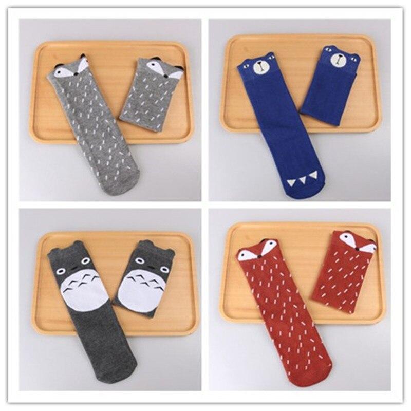 Newborn Kids Girl Boy Animal Pattern Knee High Sock Baby Socks fox Cat Cotton Cute Cartoon infant Toddler children Long Socks