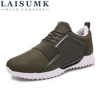 2018 LAISUMK Winter Men Casual Shoes 39 44 Breathable Mesh Brand Warm Flat Men Shoes
