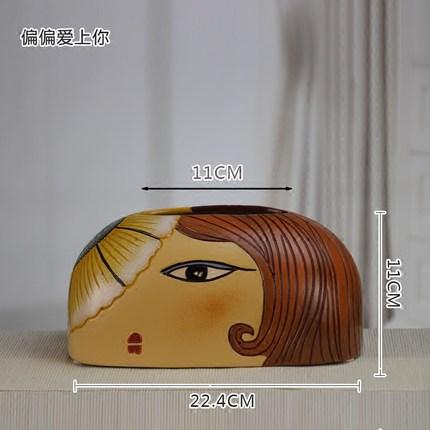 Скандинавская креативная ручная роспись коробка из керамической ткани персонализированное украшение для дома журнальный столик гостиная столовая хранение салфеток