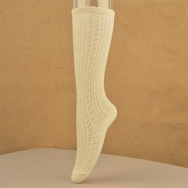 2016 Moda Sexy Muslo botas Altas cerca de La Rodilla Calcetines Medias De Algodón Largo Para Las Señoras de Las Mujeres medias de red calcetines de calado