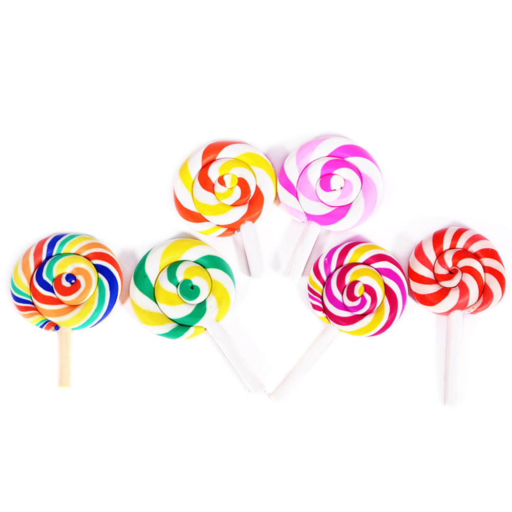 Rainbow Lollipop For Slime DIY Candy Polymer Bead Filler Addition Slime Accessories Toys Lizun Modeling Clay Kit For Children