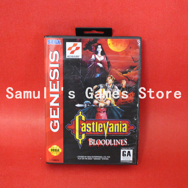 US $8 9 |Castlevania The New Generation Boxed Version 16bit MD Game Card  For Sega Genesis-in Memory Cards from Consumer Electronics on  Aliexpress com
