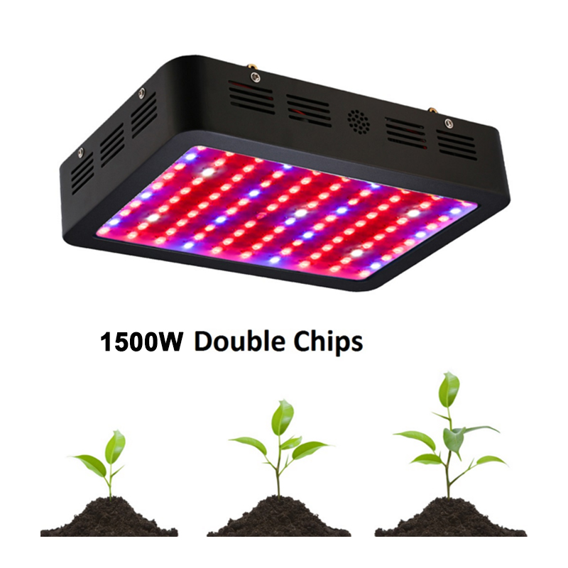 LED Grow Light 800W 1000W 1500W 1200W Double Chips Full Spectrum Grow lamps For Flowers plants