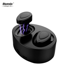 Bluenin K2 TWS Mini Ture Wireless Ear buds Bluetooth Earphone Stereo In-Ear Blutooth Headphones With Charging  Box Built-in Mic купить недорого в Москве