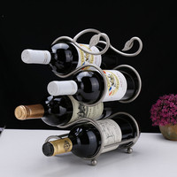 S shaped four bottle leaf Red wine rack Support Home Kitchen Bar Accessories Nice Practical Wine Holder wine rack free shipping