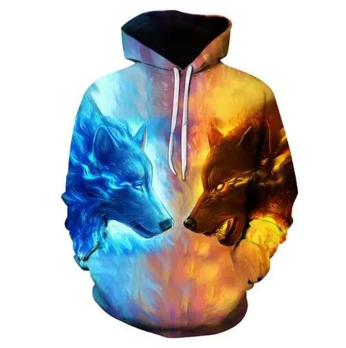 New Spring Autumn 3D Printed Oil Painted Fireworks Graffiti Unsex Hoodies Women Men Sweatshirts Hip Hop Casual Top R3646