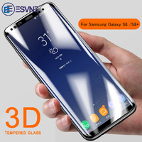 ESVNE 3D Curved Edge Tempered Glass For Samsung Galaxy S8 glass S8 Plus HD Samsung S8 Screen Protector full cover film