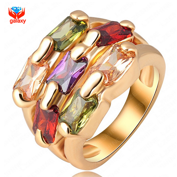 GALAXY New Listing 24K Gold Filled Wedding Ringss
