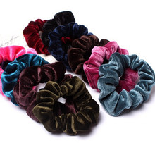10pcs/lot Hair Accessories For Women Headband Solid Flannel Elastic Bands For Hair For Girls Hair Band Hair Ornaments For Kids(China)