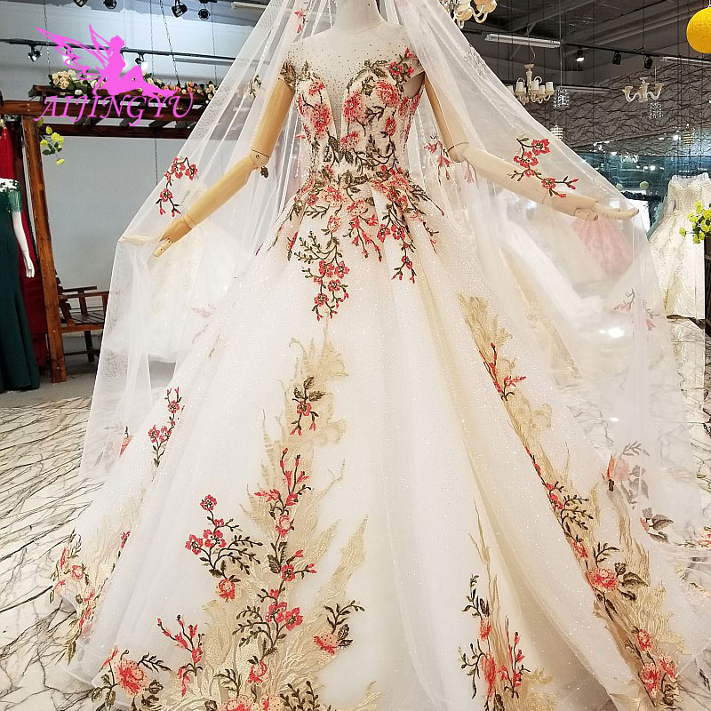 AIJINGYU Puffy Wedding Dress Lavender Gowns Lace Simple Long Sleeveds Best  Marriage Medieval Gown Wedding Dresses Uk f8c1a5ec8294