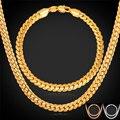Ouro/Rose Banhado A Ouro Cadeia Para Homens Homens Jóias Conjuntos de Colar Pulseira Set Moda Quente Atacado NH739
