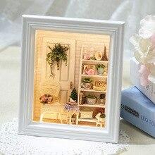 Поделки миниатюрный деревянный кукольный домик комплекты мебели игрушки ручной работы судов миниатюрный комплект модель Кукольный домик игрушки подарок для ChildrenW005