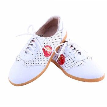 Soft Leather Tai Chi Shoes Dichotomanthes Sole Unisex Martial Arts Taiji Shoes Men&Women Wu Shu Shoes фото