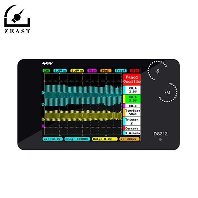 DS212 Mini LCD Numérique Portable De Stockage Oscilloscope De Poche Bande Passante 1 MHz Taux D'échantillonnage MCX Combiné Sonde