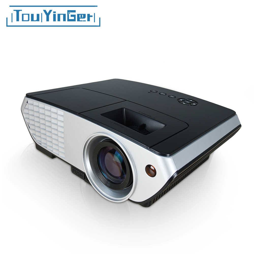 Touyinger x8 led mini projector home theater beamer full for Beamer portable