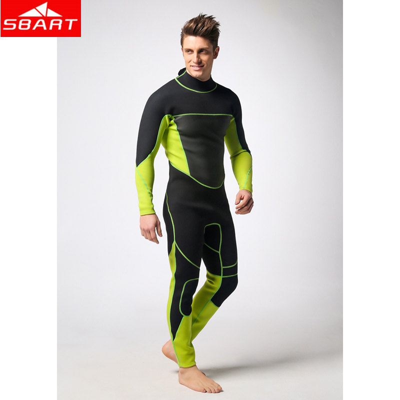 SBART 3mm Neoprene Scuba Dive Wetsuits For Men Spearfishing Wet Suits Surf Equipment One-Piece Back YZZ Zipper Wetsuits sbart 3mm neoprene men s dive wetsuits one piece men spearfishing diving wet suits surf equipment back yzz zipper sport wetsuits