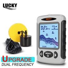 LUCKY FF718D 2,2 «ЖК-дисплей Портативный Рыболокаторы 200 кГц/83 кГц двойной Sonar частота 100 м обнаружения рыбы детектор глубина Locator