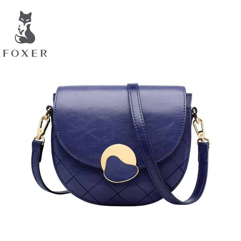 Cow leather handbag  2019 new retro saddle bag Fashion one shoulder messenger bagCow leather handbag  2019 new retro saddle bag Fashion one shoulder messenger bag