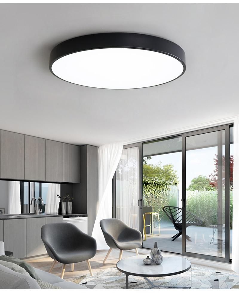 Ultra-fino redondo led luzes de teto sala