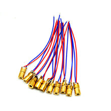 50pcs 6mm*10mm 1mW 650nm Red Laser Diode Module Focus Dot Head 3V Driver недорого