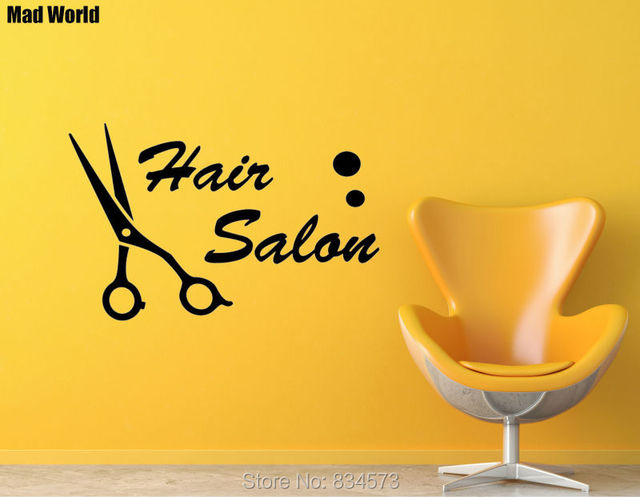 Mad World Woman and man Hair Salon Beauty Wall Art Stickers Wall ...