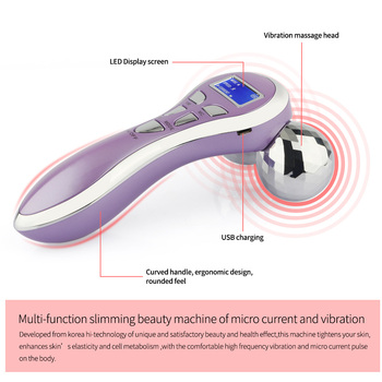 Portable Anti Body Cellulite Wrinkle Remover Slimming Beauty Machine 4D Roller Facial Vibrating Massager Face Shaping Tool 5