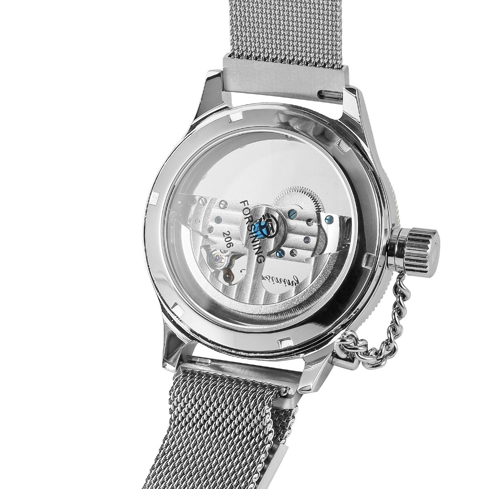 ad9abcad2cb Aliexpress.com  Compre FORSINING Esqueleto Auto liquidação dos homens  Pulseira de Aço Inoxidável Marca de Luxo Novo Design Relógio de Pulso  Melhor Relógio ...